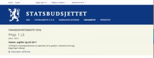 Statsbudsjett 2017 for investorer